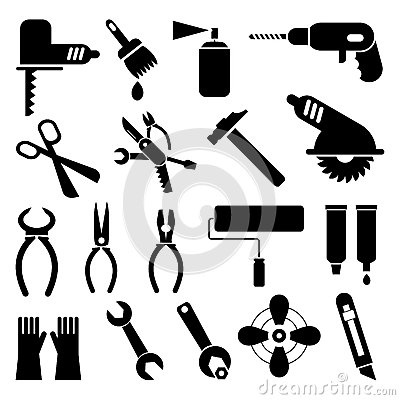 Free Tool Icons Stock Photography - 24679882