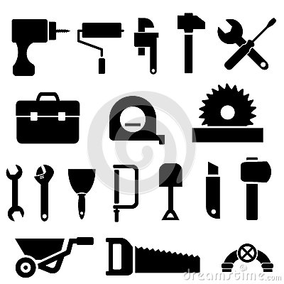 Free Tool Icons In Black Stock Photo - 29194760