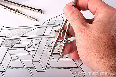 Tool over the drawing