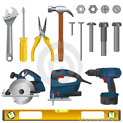 Free Tool Set Vector Royalty Free Stock Photo - 5440335