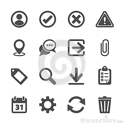 Free Toolbar Icon Set, Vector Eps10 Stock Photo - 46233370