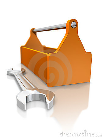 Free Toolbox And Spanner Royalty Free Stock Photography - 9141817
