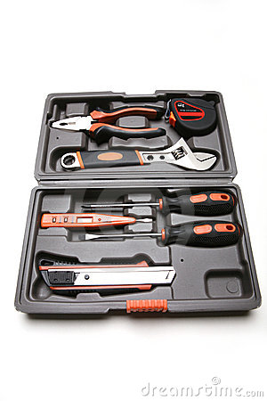 Toolbox with various tools