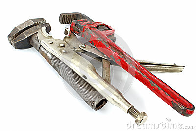 Tools(adjustable spanner,pincers and pipe wrench )