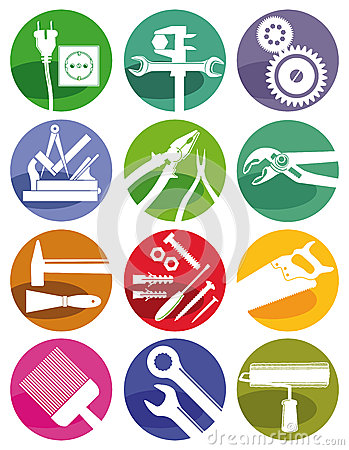 Free Tools And Crafts Symbols Stock Photography - 43704732