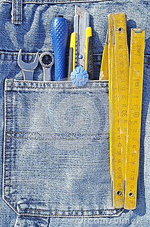 Free Tools And Jeans Pocket Royalty Free Stock Photos - 29950408