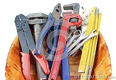 Tools in basket