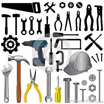 Free Tools Big Set Royalty Free Stock Photography - 12205137