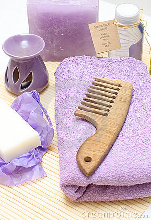 Tools for body care in the spa salon