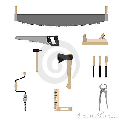 Tools of carpenter - vector