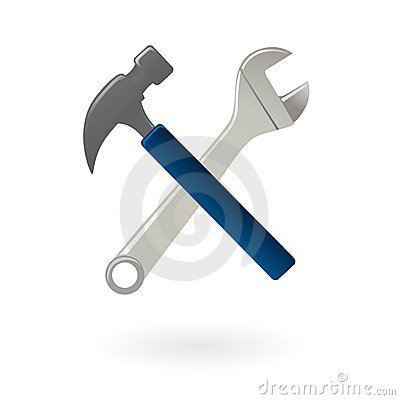Tools icon isolated