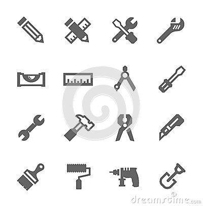 Free Tools Icon Set Royalty Free Stock Photos - 32491358