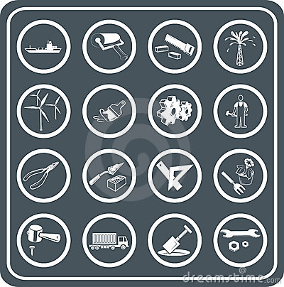 Tools and industry icons