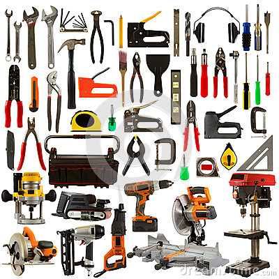 Free Tools Isolated On A White Background Stock Photography - 25754652