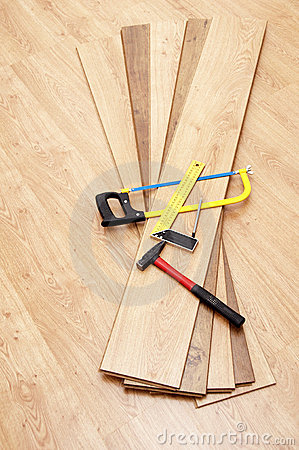 Tools for mounting laminated floor