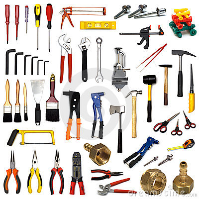 Free Tools On White Background Stock Photos - 3512823