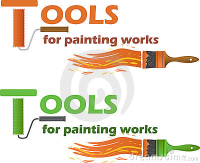 Tools for painting works, vector illustration
