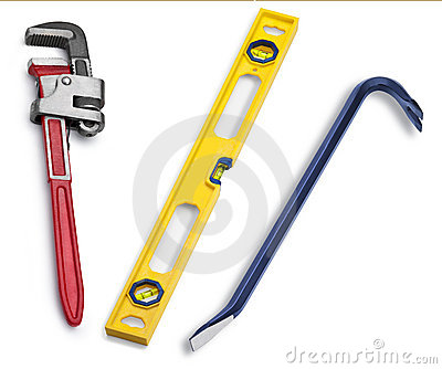 Tools Pipe Wrench Level