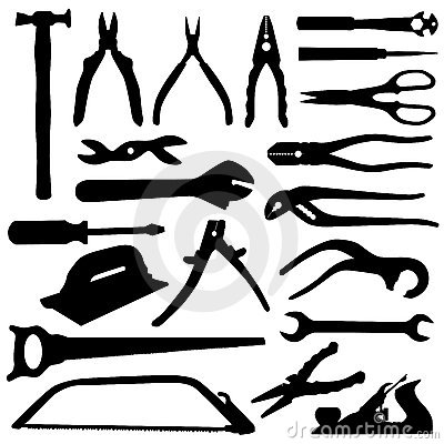 Free Tools Set - Vector Royalty Free Stock Photos - 3682258