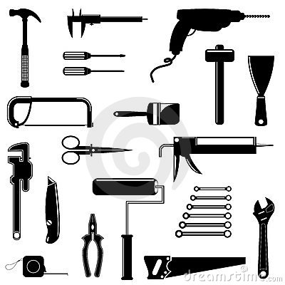 Free Tools Silhouettes Royalty Free Stock Photography - 11514627