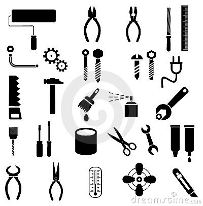 Free Tools - Vector Icons Royalty Free Stock Photos - 21092688