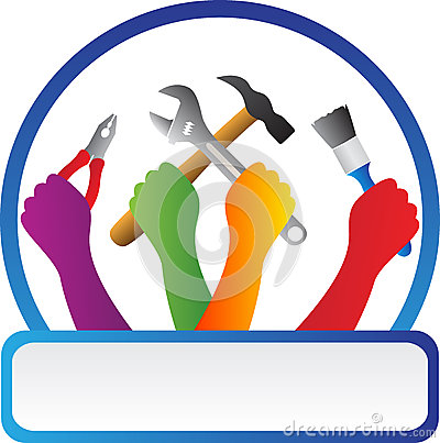 Free Tools With Hands Stock Photo - 36867580