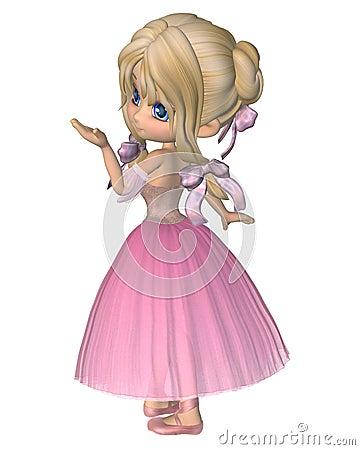 Toon Ballerina in Pink Romantic Style Tutu