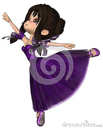 Toon Ballerina in Purple Romantic Style Tutu