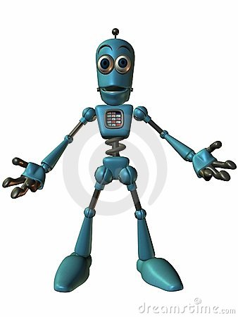 Toon Bot Chip-Open Arms