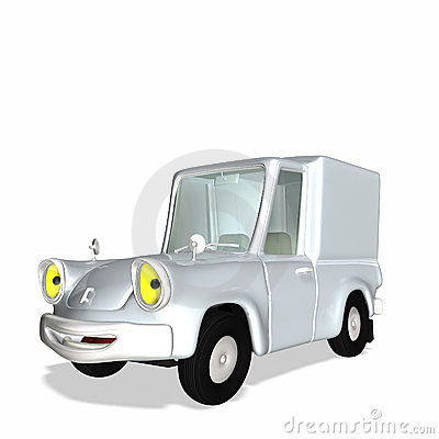 Toon Delivery Cargo Truck 1
