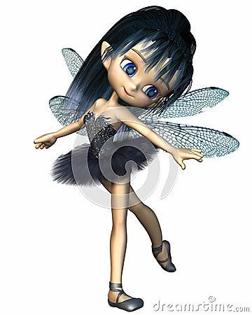 Toon Dragonfly Ballerina Fairy - Blue