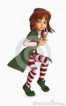 toon girl christmas elf