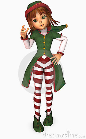 toon girl christmas elf