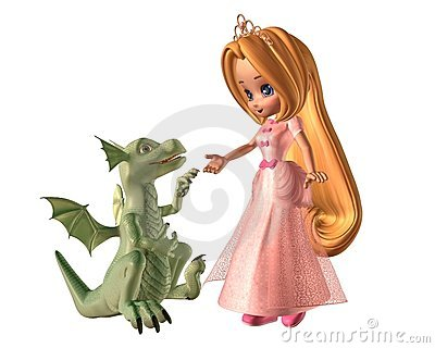 Toon Princess and Baby Dragon