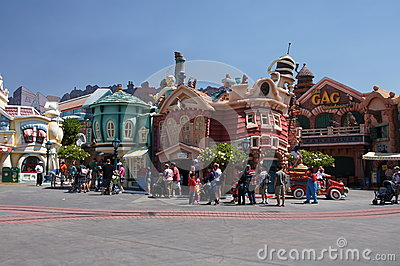 Toon Town Editorial Stock Image