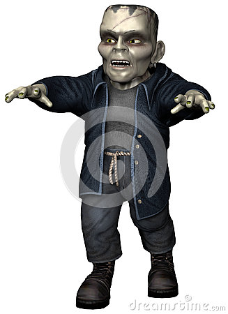 Free Toon Zombie Monster Royalty Free Stock Image - 31976146