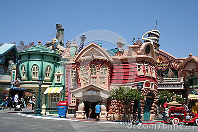 Toontown del Disneyland Immagine Stock Editoriale