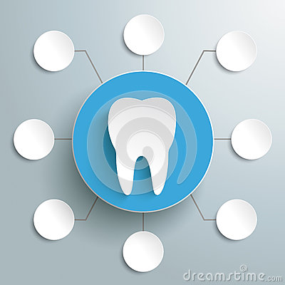 Tooth Blue Circle 8 Options PiAd