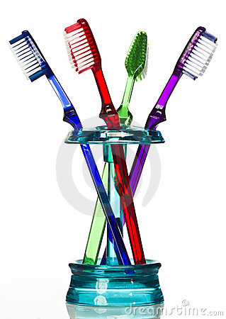 Tooth brush in holder