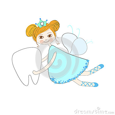 Free Tooth Fairy Vector Background Royalty Free Stock Photos - 56953078