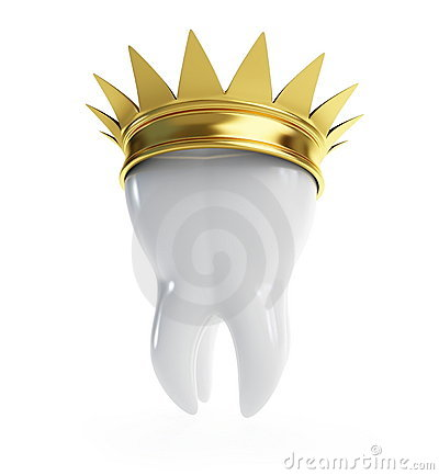 Tooth gold crown