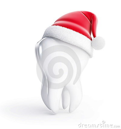 Tooth santa hat