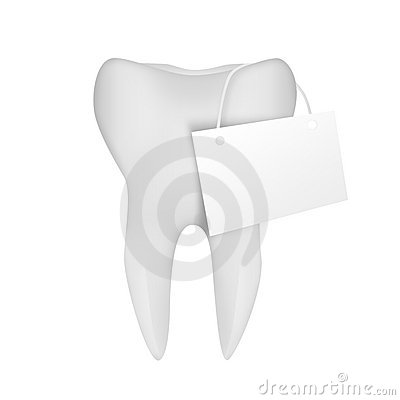 Tooth With Sign