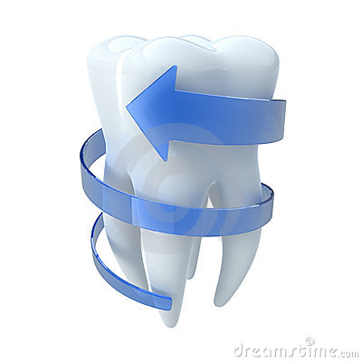 Free Tooth With Blue Arrow Royalty Free Stock Photography - 16354307