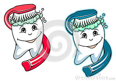 Toothbrush and dental paste
