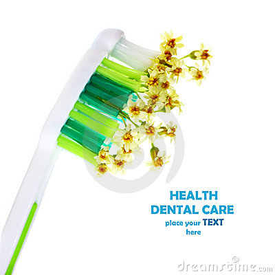 Toothbrush with flowers