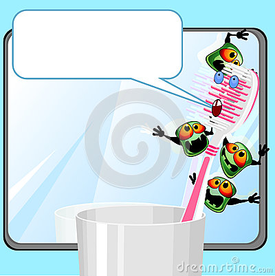 Toothbrush with germs