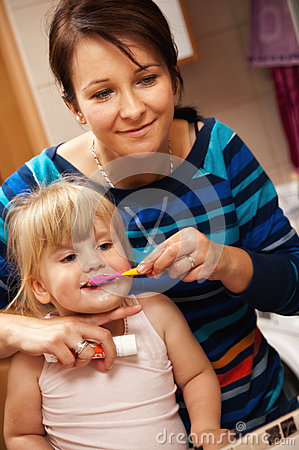 Toothbrush little girl