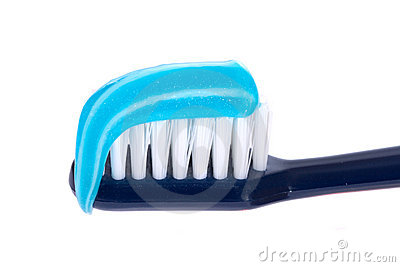 Toothbrush with paste