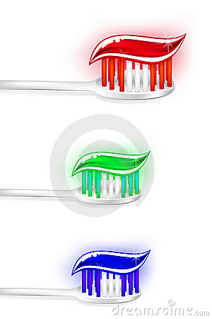 Toothbrushes with a squeeze of toothpaste